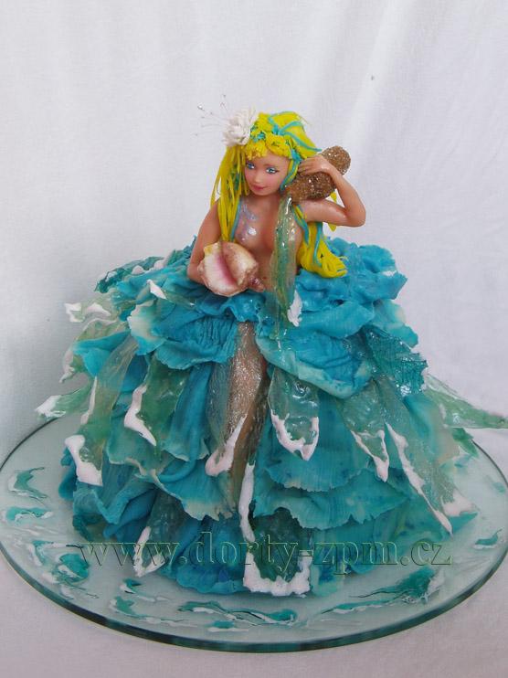 vodní víla, dětský dort
