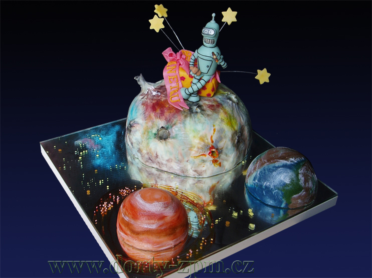 Bender Futurama, dětský dort