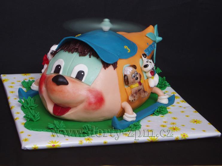 vrtulník, dětské dorty