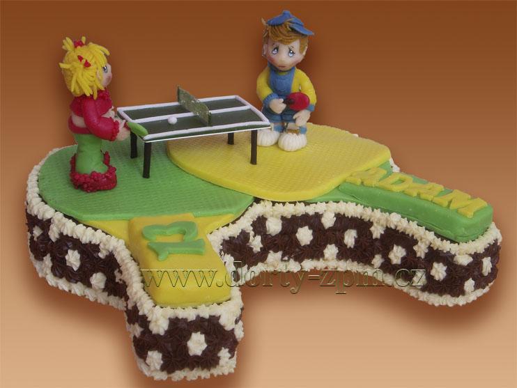 ping-pong, sportovní dort
