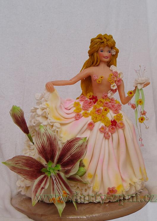 víla květinová, dětský dort