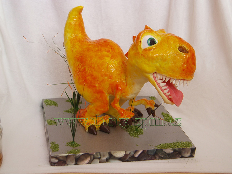 dort, tyranosaurus, dinosaurus, stojící, 3D, doba, ledová, film
