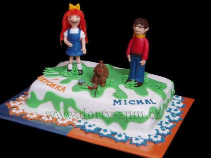 Mach a Šebestová, dětský dort
