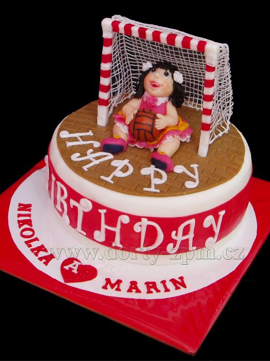 házená, figurka, sportovní dort