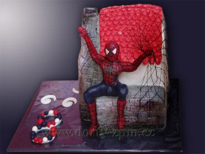 dort Spiderman, dětský dort