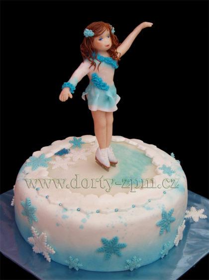 dort krasobruslení, sportovní a dětský dort