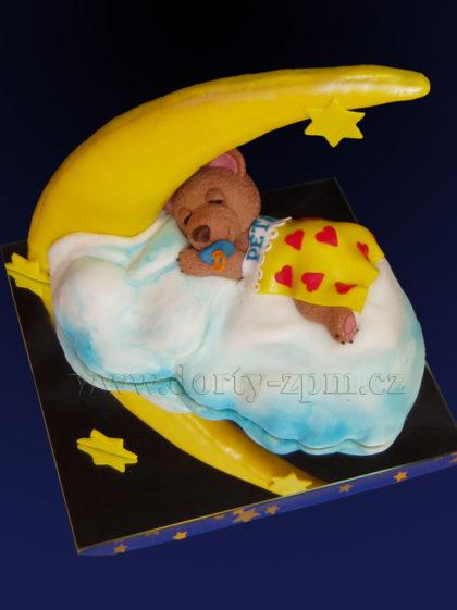 dort měsíček a medvídek, dětský dort