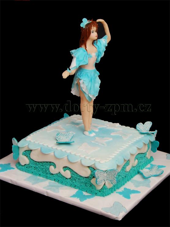 dort tanečnice, dětský a sportovní dort