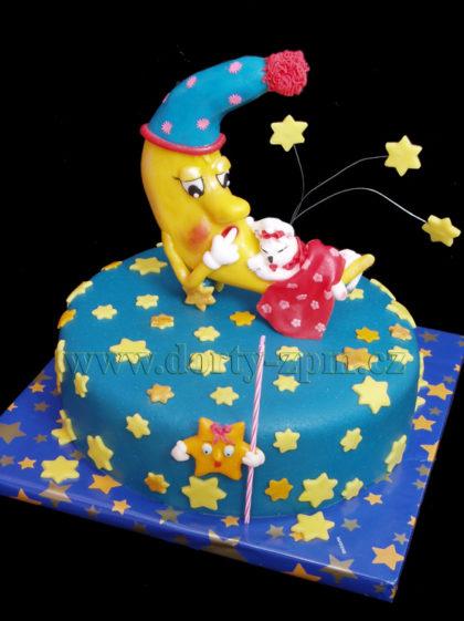 dort měsíc a kočička, dětský dort
