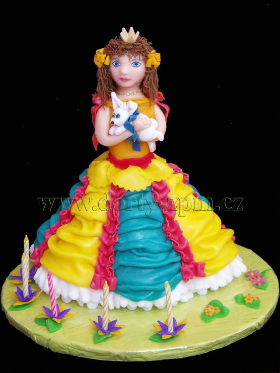 dort princezna 3D, dětský dort