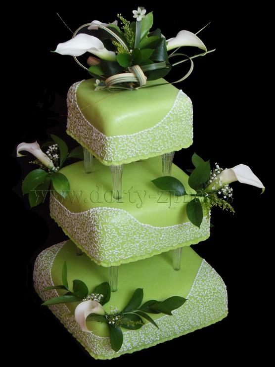 svatební dort, živé kaly a zdobení royal icing