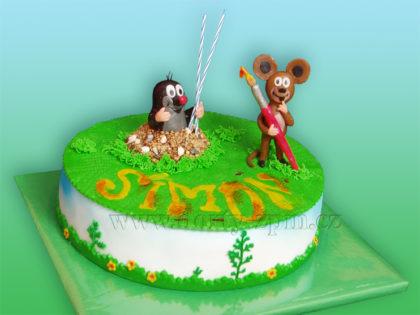 dort krtek a myška, dětský dort