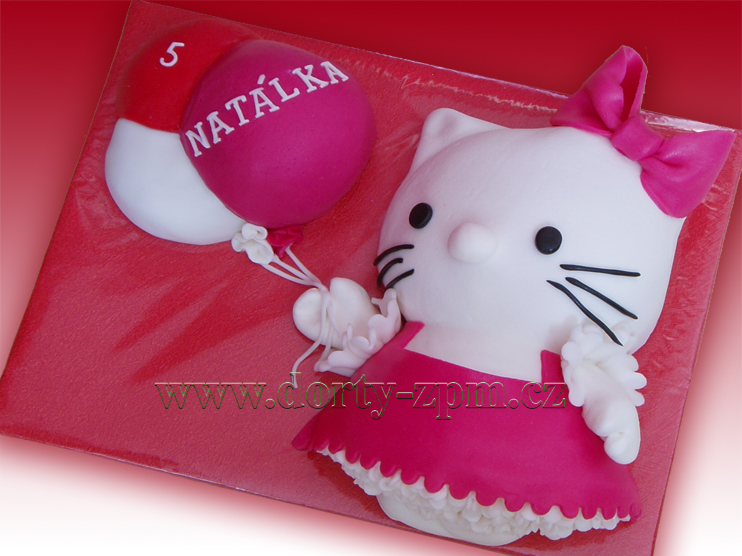 dort Kitty kočička, dětský dort