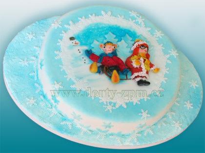dort Hurvínek a Mánička, dětský dort