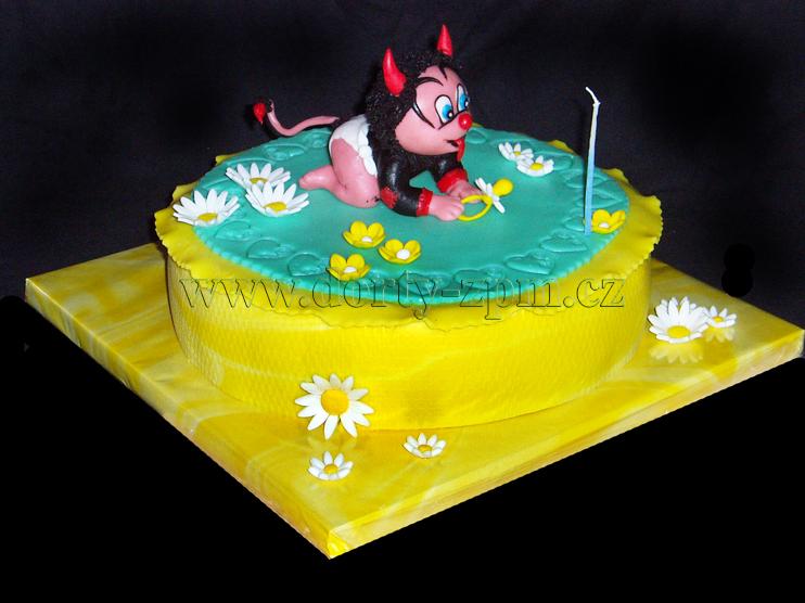 dort čertík, dětský dort