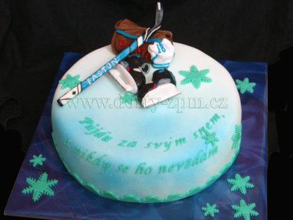 dort hokejový, sportovní dort