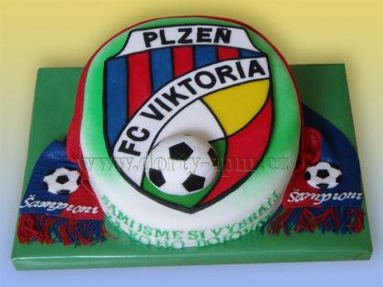 dort znak FC Viktoria Plzeň, sportovní dort