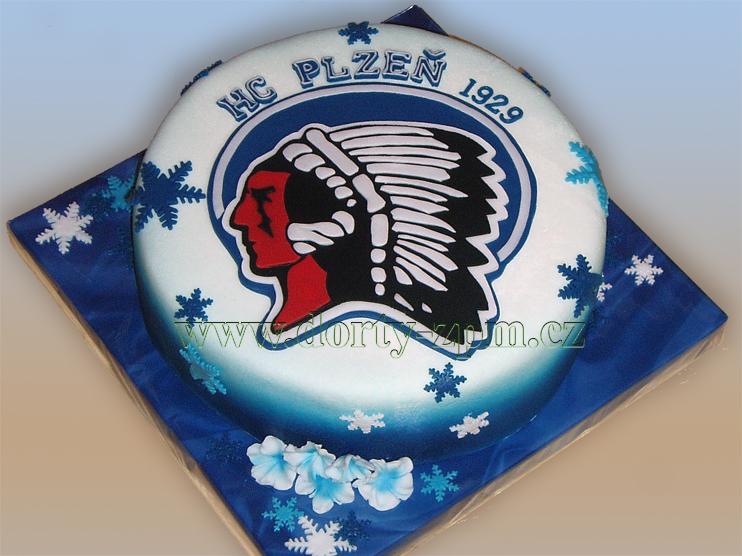 dort znak HC Plzeň, sportovní dort