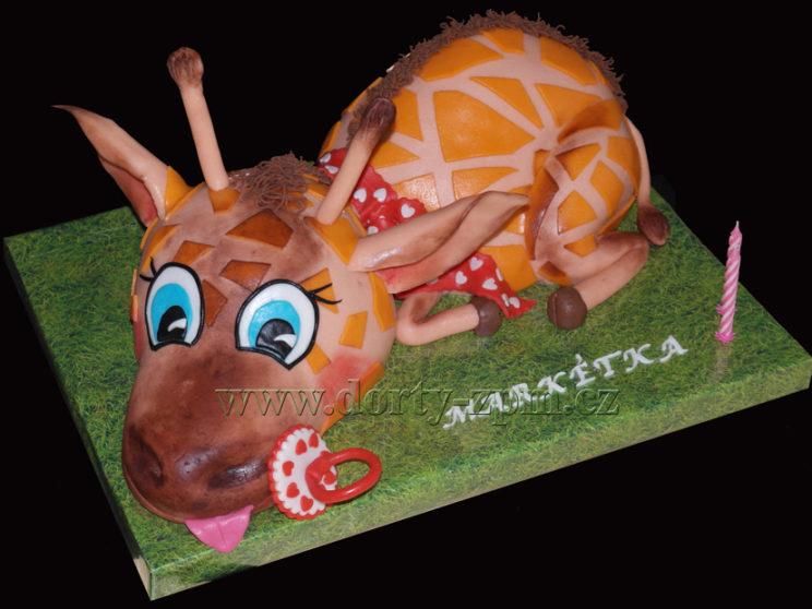 dort žirafa, zvíře, 3D