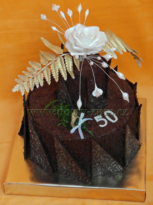 dort růže a kapradí, čokoládový slavnostní