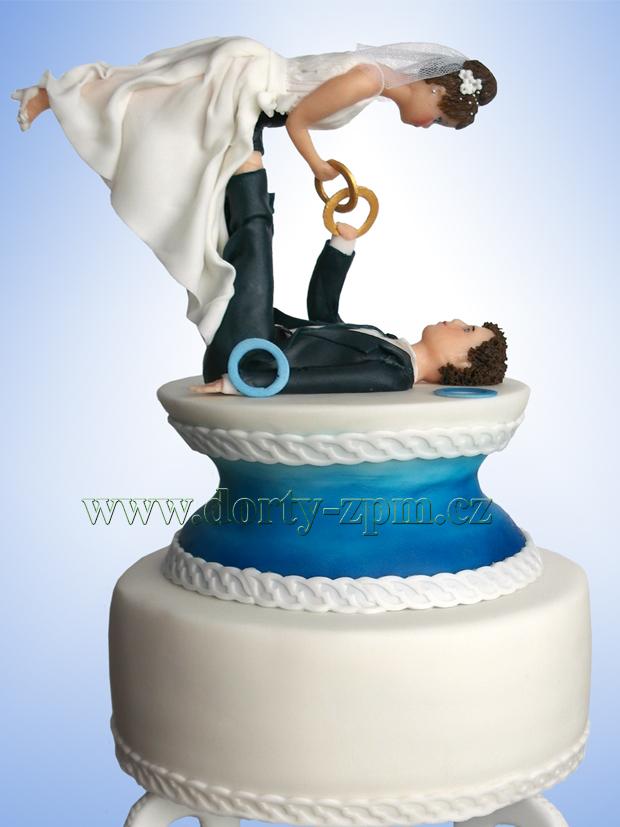 svatební dort artisté, žonglérské kroužky
