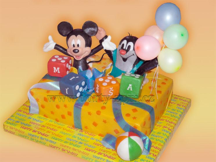 dort Mickey Mouse a krtek, dětský