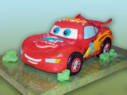 dort auto McQueen 3D, dětský