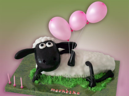 dort, dětský, ovečka Shaun, balonky