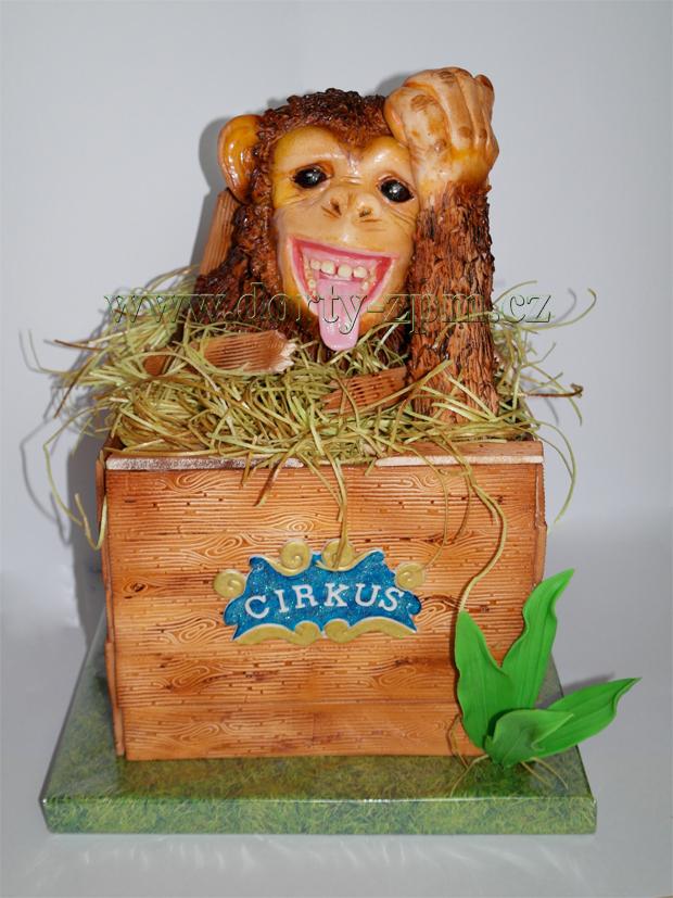dort opice šimpanz v krabici 3D, dětský