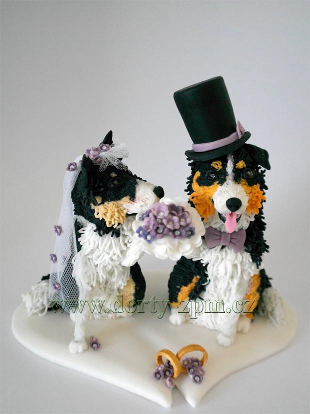 svatební figurky, ženich a nevěsta