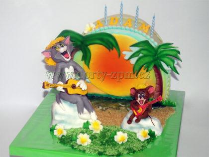 dort Tom a Jerry, dětský, palmy, slunce