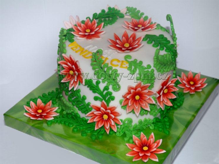dort květiny a kapradí