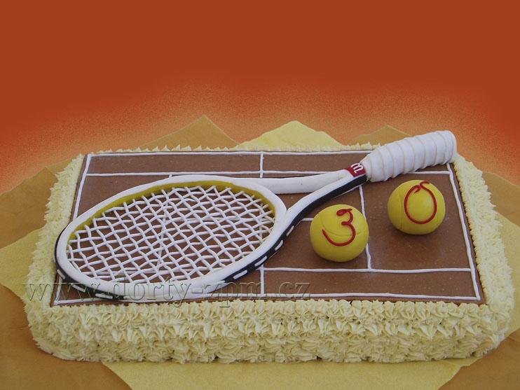 tenisová raketa, sportovní dort
