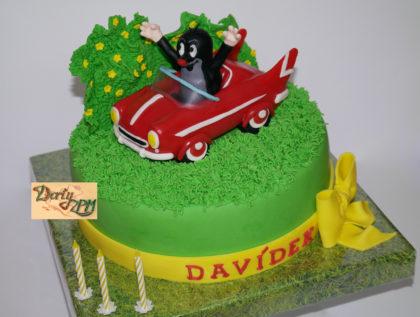 dort krtek a autíčko, dětský
