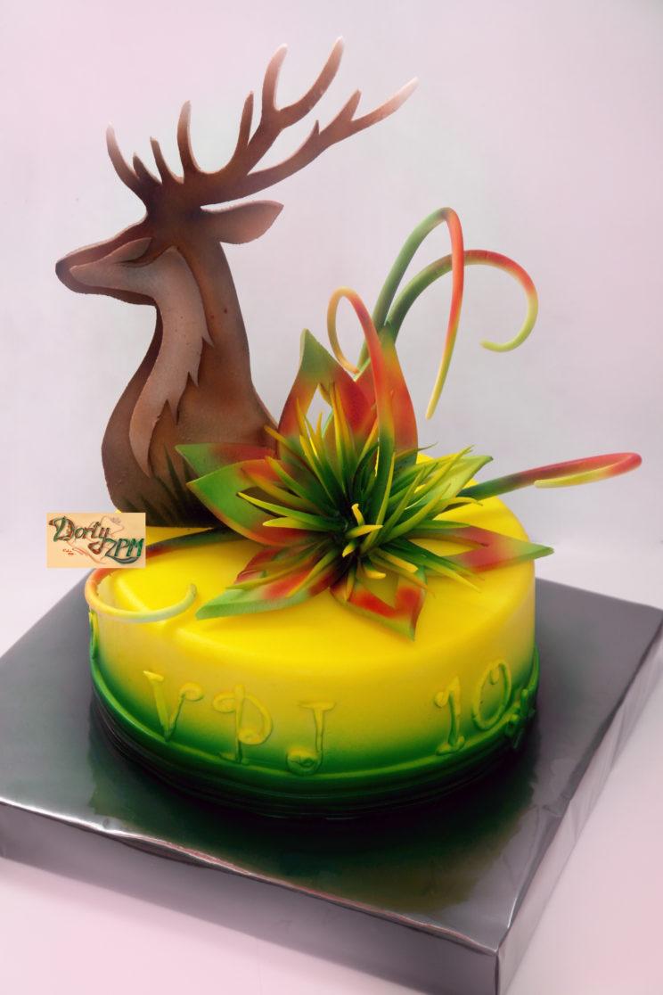 dort, květina, jelen, pastillage, extravagance, slavnostní, myslivecký