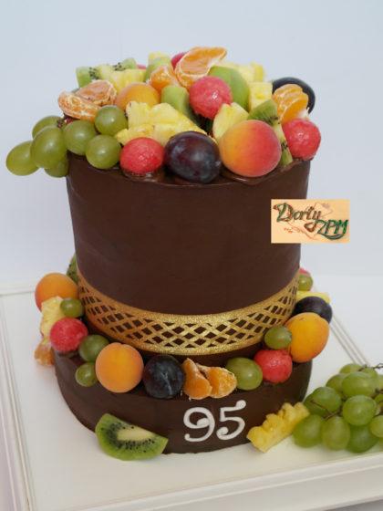 dort,čokoládový,ovoce,patrový,ganache,broskve,víno,kivi,švestky,ananas