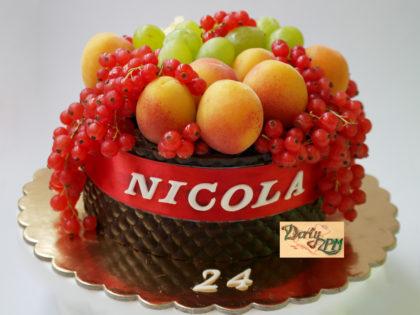 dort,ovocný,broskve,rybíz