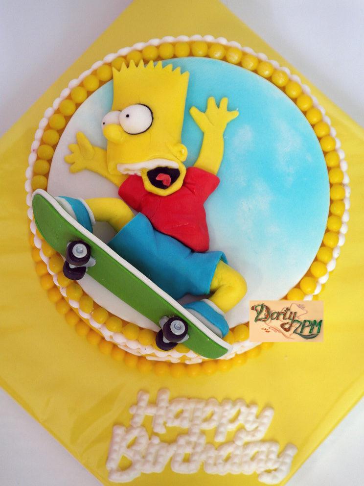dort, Bart, Simpson, skateboard
