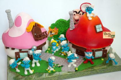 dort,šmoulové,gargamel,azrael,vesnice,silák,hezoun,taťka,Šmoulinka,