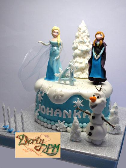 dort,ledové,království,princezna,Anna,Elsa,Olaf, Dorty-ZPM, Plzeň