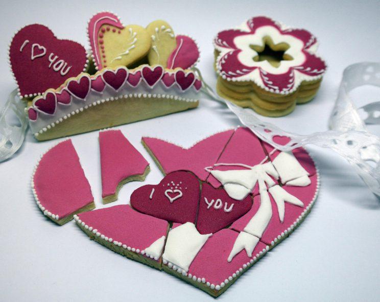 sušenky,puzzle,Valentýn