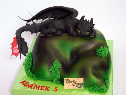 dort Bezzubka, 3D, dětský dort, Jak vycvičit draka, Dorty-ZPM, Plzeň, Slovany