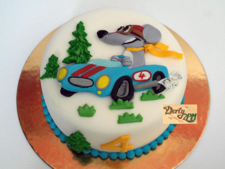 dort dětský, autíčko a myška, 2D, Dorty-ZPM, Plzeň