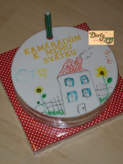 dort, dětská kresba, do školky pro kamarády, Dorty-ZPM, Plzeň, Slovany