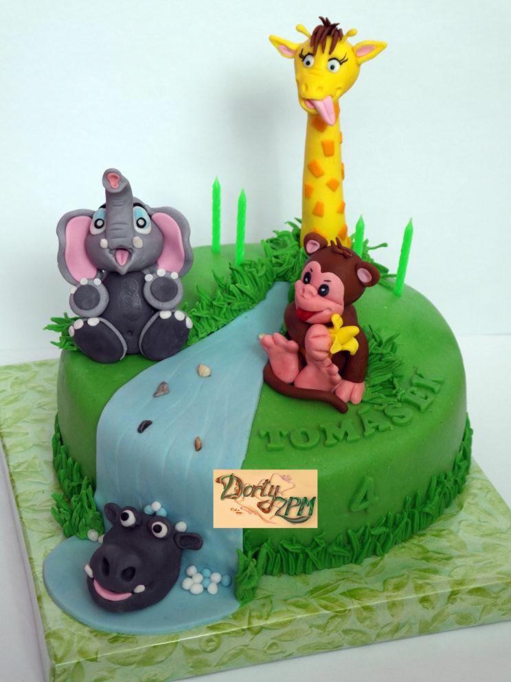 dort,dětský,zvířátka,opička,slon,hroch,žirafa