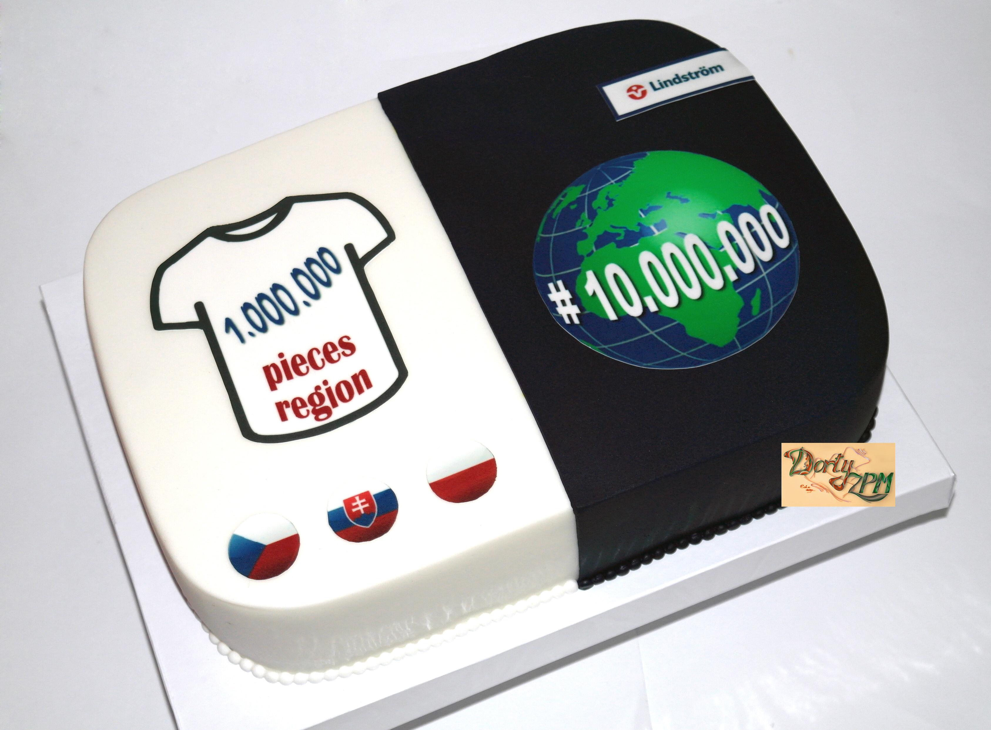 dort, cake, firma, Lindström, výročí