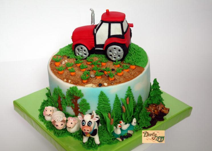 dort,traktor,farma,zvířátka