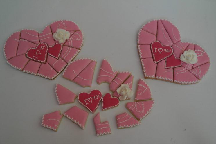 sušenky,puzzle,love,valentýn