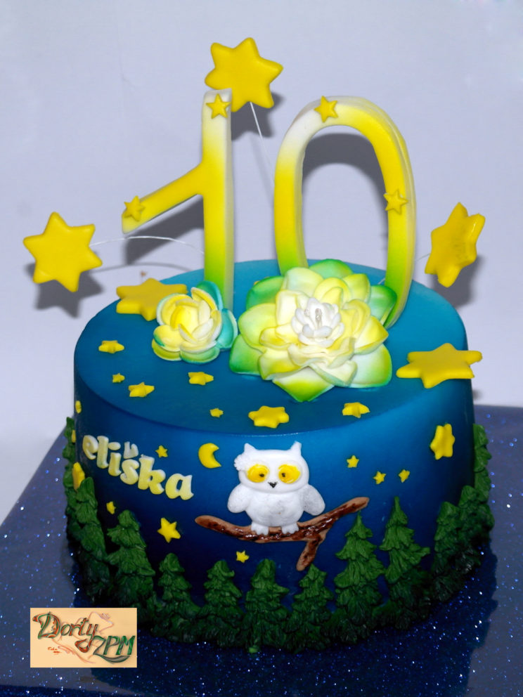 dort,sovička,les,hvězdy