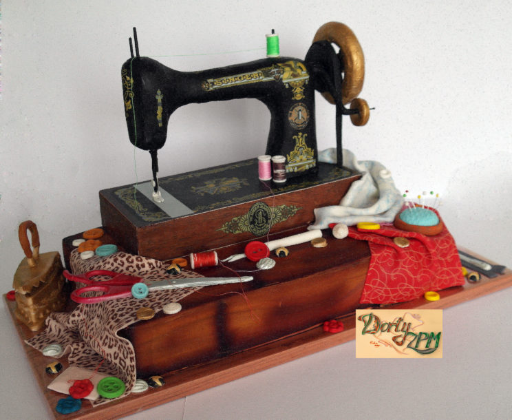 dorty,cake,šicí,stroj,Singer